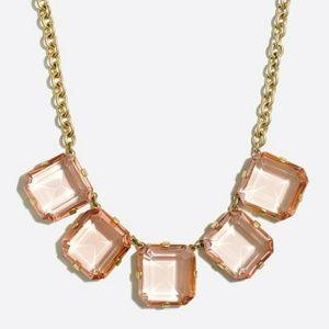 Sale! J. Crew Light Pink Crystal Cube Necklace